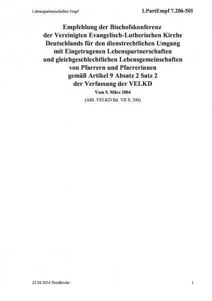 7.206-501 Lebenspartnerschaften Empf