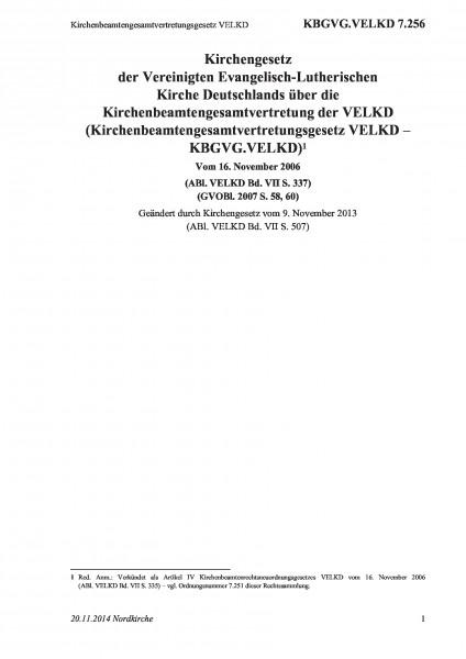 7.256 Kirchenbeamtengesamtvertretungsgesetz VELKD