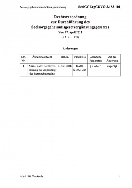 3.153-101 Seelsorgegeheimnisdurchführungsverordnung