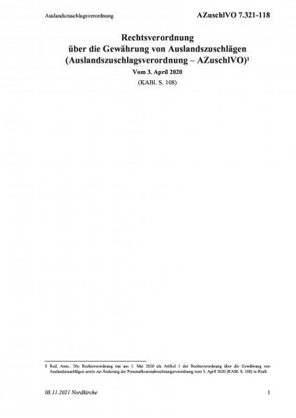 7.321-118 Auslandszuschlagsverordnung