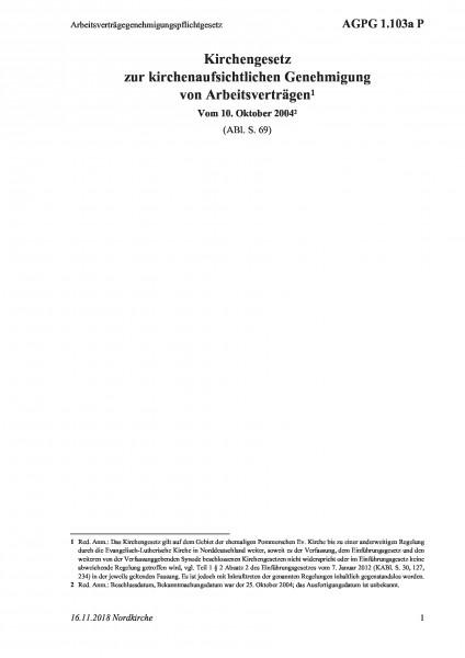 1.103a P Arbeitsverträgegenehmigungspflichtgesetz
