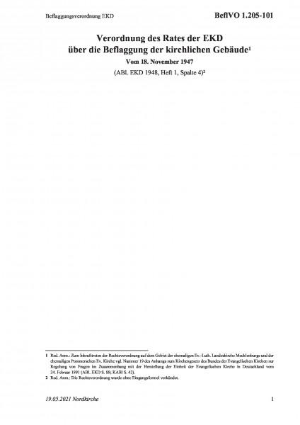 1.205-101 Beflaggungsverordnung EKD