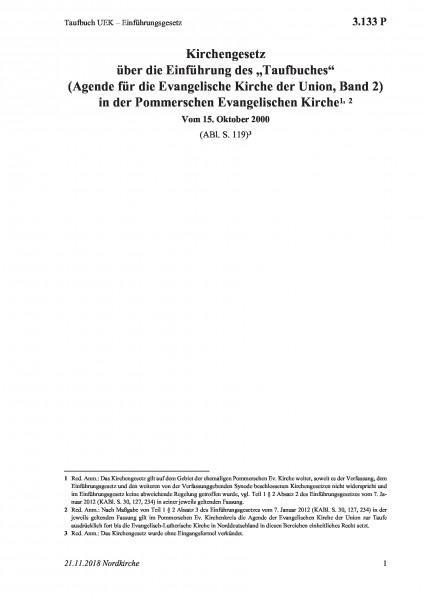 3.133 P Taufbuch UEK – Einführungsgesetz
