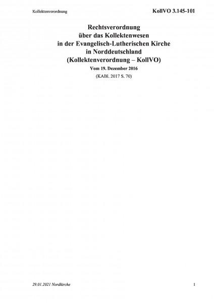 3.145-101 Kollektenverordnung