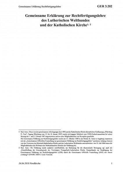 3.202 Gemeinsame Erklärung Rechtfertigungslehre