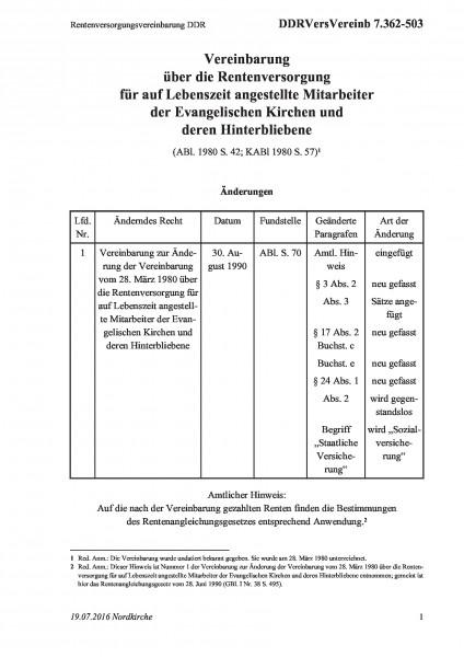 7.362-503 Rentenversorgungsvereinbarung DDR