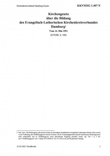 1.407 N Kirchenkreisverband Hamburg-Gesetz