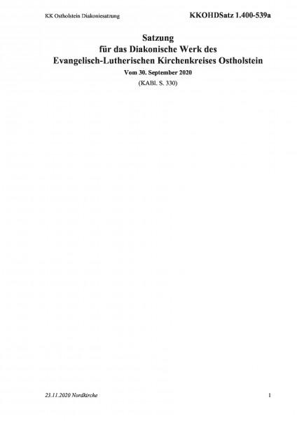 1.400-539a KK Ostholstein Diakoniesatzung
