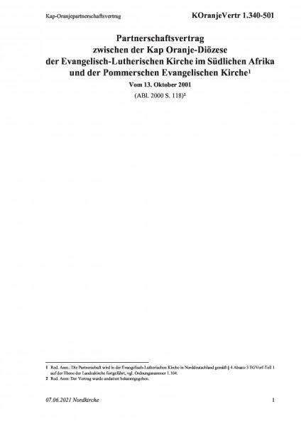 1.340-501 Oranjepartnerschaftsvertrag