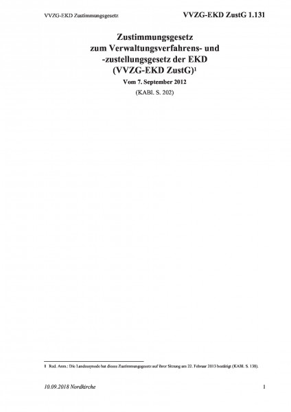 1.131 VVZG-EKD Zustimmungsgesetz