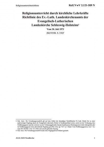 2.121-509 N Religionsunterrichtsrichtlinie
