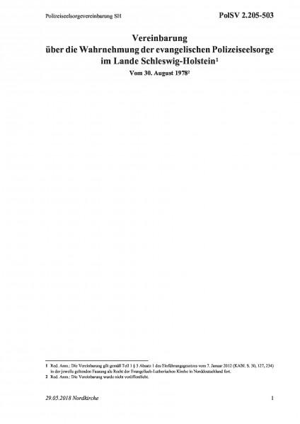 2.205-503 Polizeiseelsorgevereinbarung SH