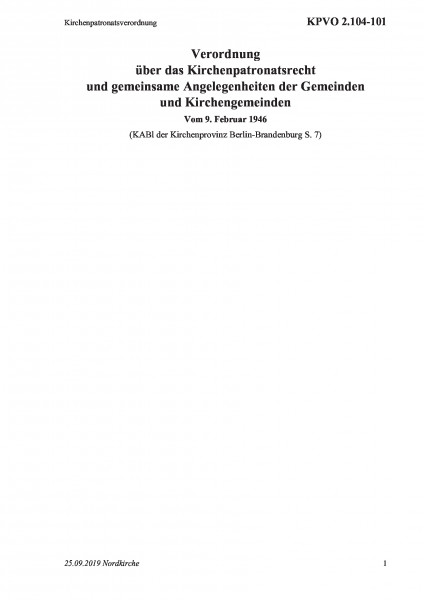 2.104-101 Kirchenpatronatsverordnung