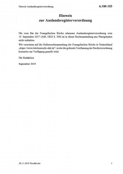 6.100-103 Hinweis Auslandsregisterverordnung