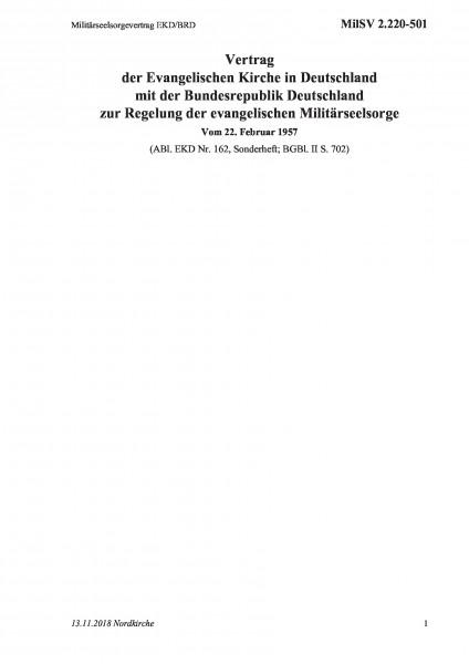 2.220-501 Militärseelsorgevertrag EKD/BRD