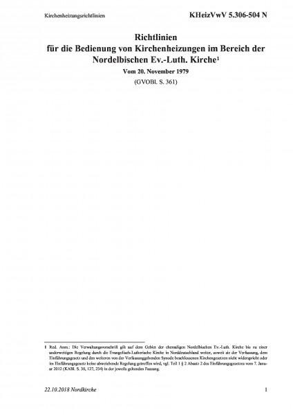 5.306-504 N Kirchenheizungsrichtlinien