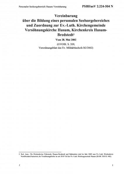 2.224-504 N Personaler Seelsorgebereich Husum Vereinbarung