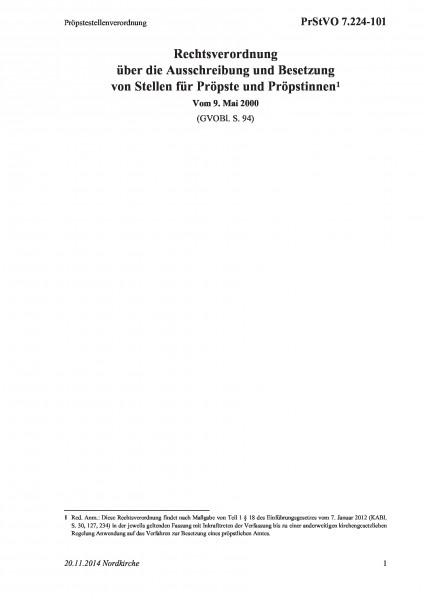 7.224-101 Pröpstestellenverordnung