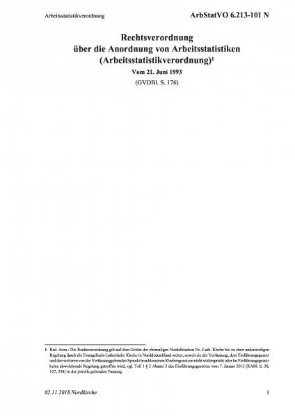6.213-101 N Arbeitsstatistikverordnung