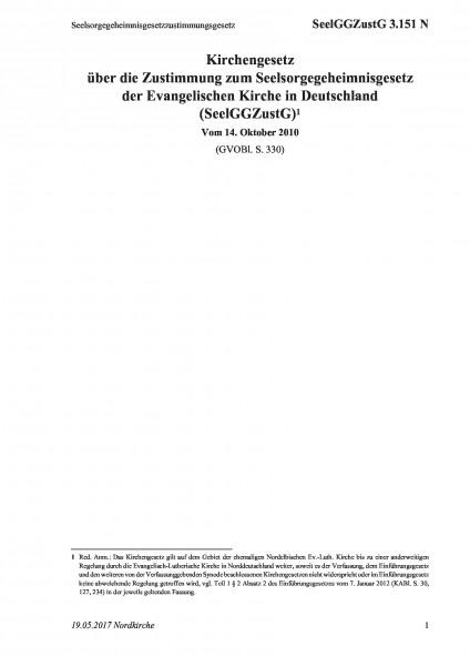 3.151 N Seelsorgegeheimnisgesetzzustimmungsgesetz