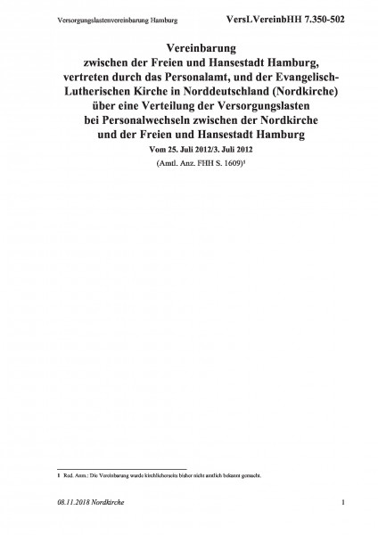 7.350-502 Versorgungslastenvereinbarung Hamburg