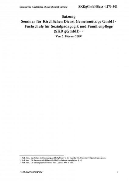 4.270-501 Seminar für Kirchlichen Dienst gGmbH Satzung