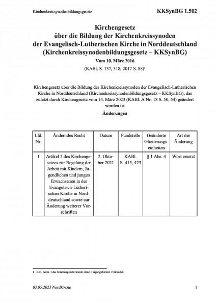1.502 Kirchenkreissynodenbildungsgesetz