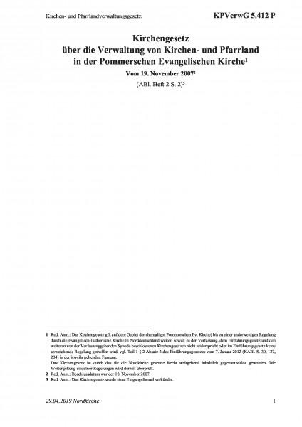 5.412 P Kirchen- und Pfarrlandverwaltungsgesetz