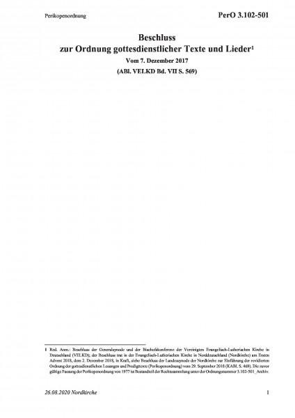 3.102-501 Perikopenordnung