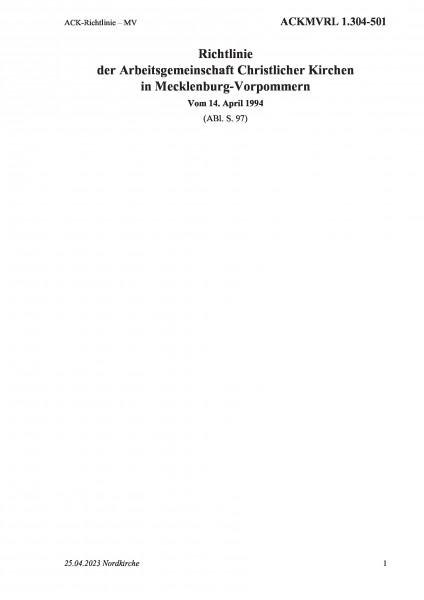 1.304-501 ACK-Richtlinie – MV