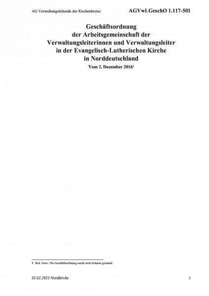 1.117-501 AG Verwaltungsleitende der Kirchenkreise