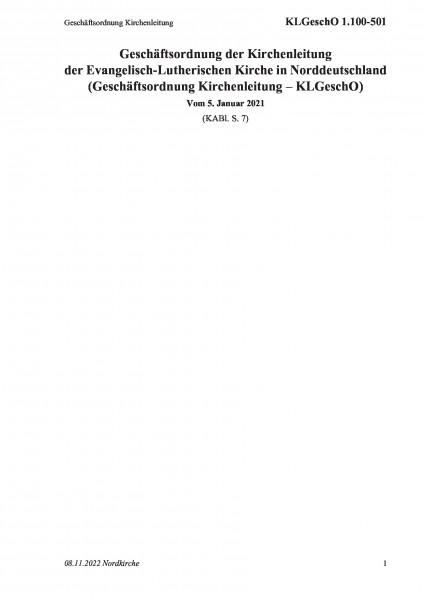 1.100-501 Geschäftsordnung Kirchenleitung