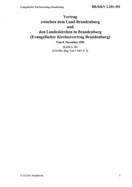 2.201-501 Evangelischer Kirchenvertrag Brandenburg