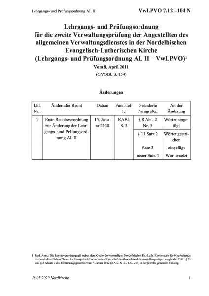 7.121-104 N Lehrgangs- und Prüfungsordnung AL II