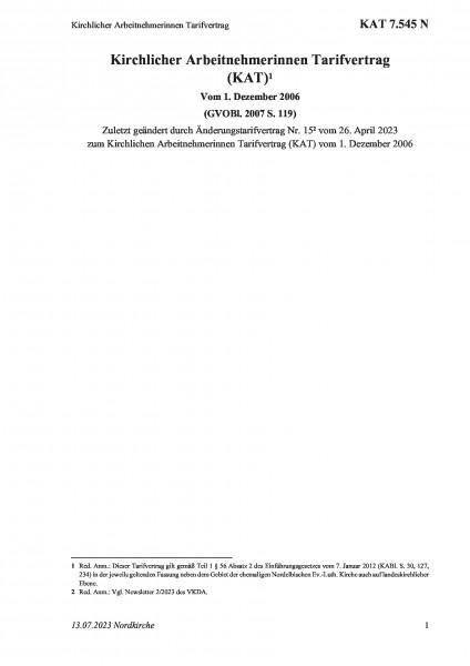 7.545 N Kirchlicher Arbeitnehmerinnen Tarifvertrag