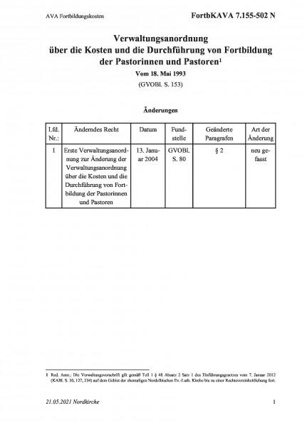 7.155-502 N AVA Fortbildungskosten