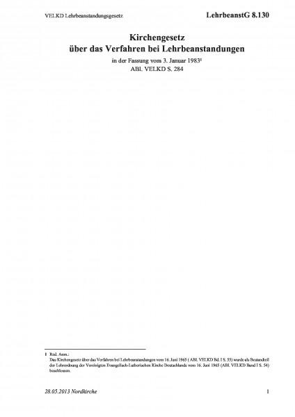 8.130 VELKD Lehrbeanstandungsgesetz