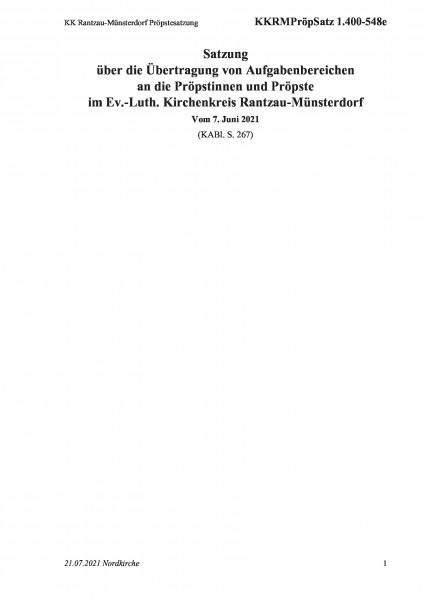 1.400-548e KK Rantzau-Münsterdorf Pröpstesatzung