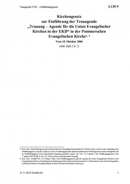 3.139 P Trauagende UEK – Einführungsgesetz
