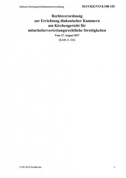 8.108-101 Diakonie-Kirchengerichtskammernverordnung
