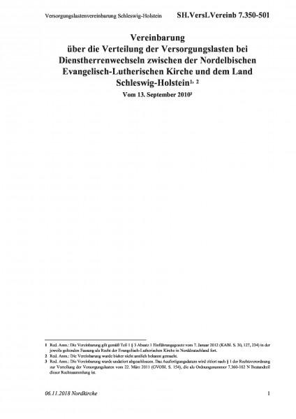7.350-501 Versorgungslastenvereinbarung Schleswig-Holstein