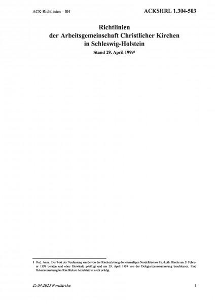 1.304-503 ACK-Richtlinien – SH