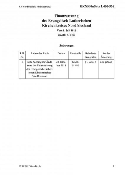 1.400-536 KK Nordfriesland Finanzsatzung