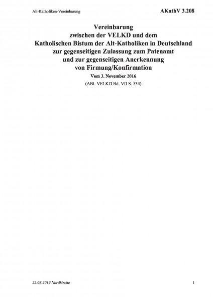 3.208 Alt-Katholiken-Vereinbarung