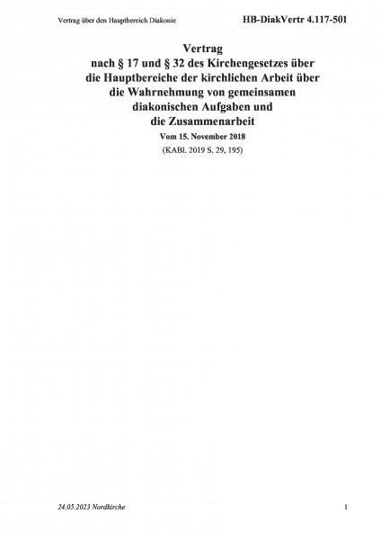 4.117-501 Vertrag über den Hauptbereich Diakonie