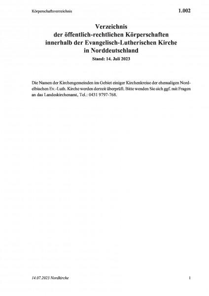 1.002 Körperschaftsverzeichnis