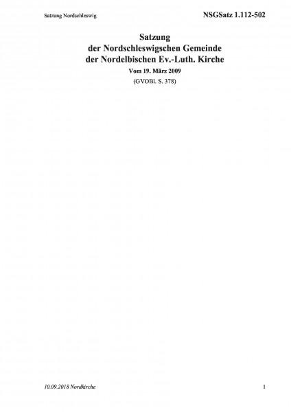 1.112-502 Satzung Nordschleswig