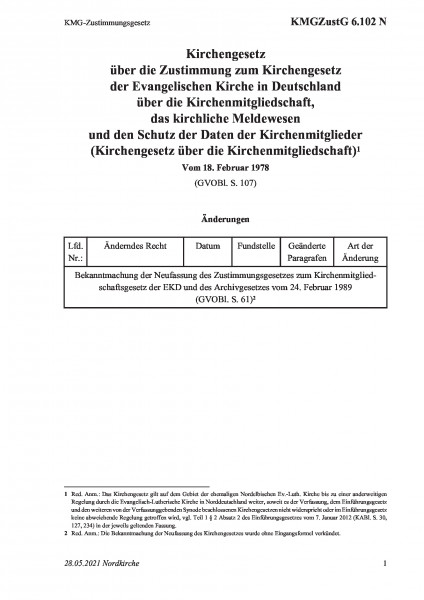 6.102 N KMG-Zustimmungsgesetz