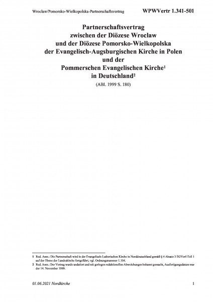 1.341-501 Wroclaw/Pomorsko-Wielkopolska-Partnerschaftsvertrag
