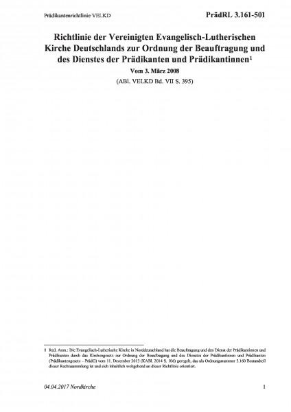 3.161-501 Prädikantenrichtlinie VELKD